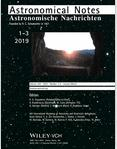 ASTRONOMISCHE NACHRICHTEN《天文学通报》